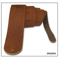 PRS Brown Leather Birds Strap