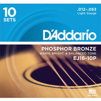 D'Addario EJ16 Acoustic Guitar Strings 10 Pack