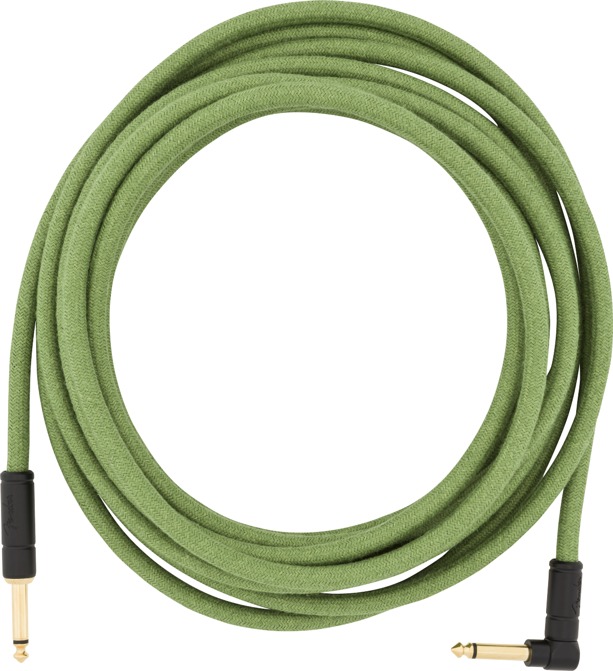 Fender 18.6' Angled Festival Instrument Cable Pure Hemp Green
