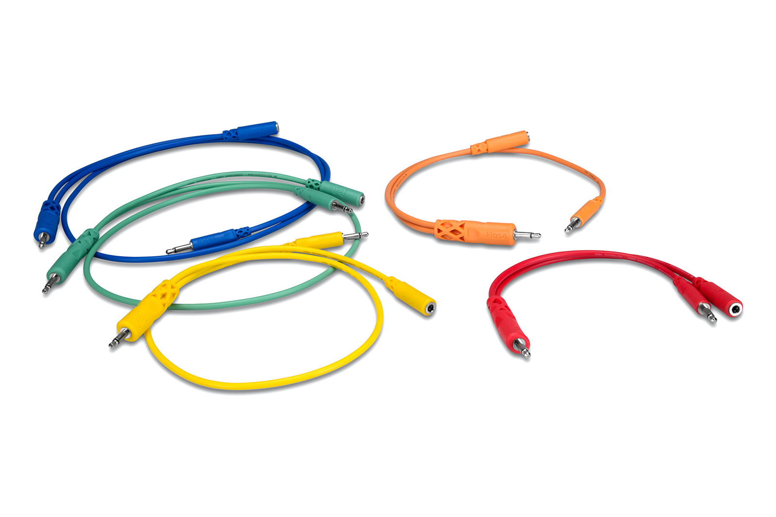 Hosa CMM500YMIX Hopscotch Patch Cables Mixed