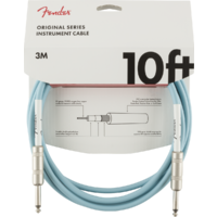 Fender Original Series Instrument Cable - 10' Daphne Blue