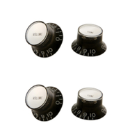 Gibson - Black Top Hat Knob w/ Insert 4 Pack