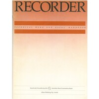 Recorder - Technical Work and Users Handbook