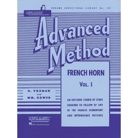 Rubank Advanced Method - French Horn in F or E-flat, Vol. 1