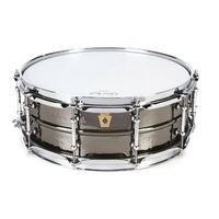 "Ludwig LB416KT Black Beauty Brass 5x14"" Hammered Shell, Tube Lugs"