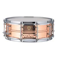 "Ludwig LC660KT Copper Phonic 5x14"" Hammered Shell w/Tube Lugs"
