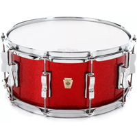"Ludwig LS403XX27 Classic Maple 6.5x14"" Wood Shell - Red Sparkle"